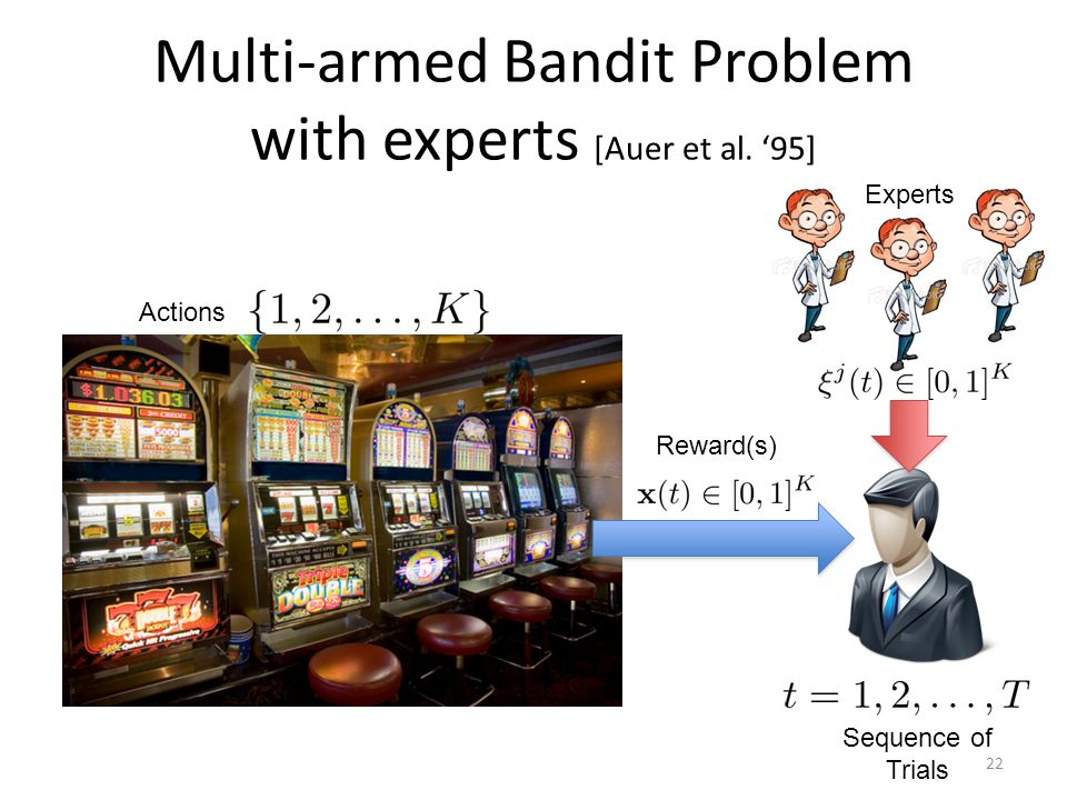 Multi-armed Bandit Problem with experts [Auer et al. '95]